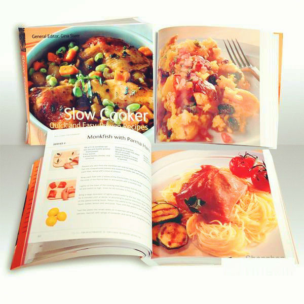 Full color fashion design cheap China Xinlian Cookbook printing