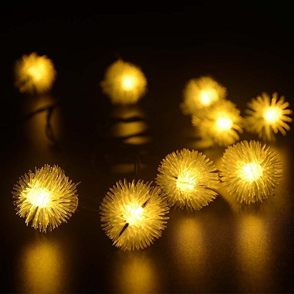 get quotations bc outdoor led christmas string lights solar chuzzle ball lights 30 led fairy light for garden - Solar Christmas Tree