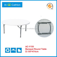 1.5M 5 foot folding plastic round tables for sale