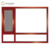 Thermal Break Aluminum Casement Flynet Glass Window and Door