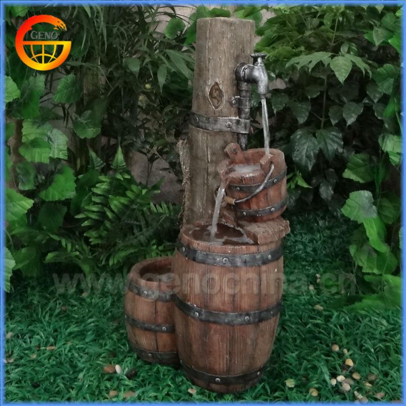 2014 baril robinet fontaine d 39 eau pour jardin d coration d for Accessoire de jardin deco