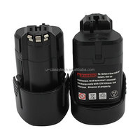 2-Pack Power Tool Battery 10.8V 1.5Ah Li-Ion for Cordless Drill 2 607 336 013