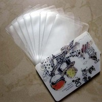 Multifunction hot sale clear plastic pvc magnetic card sleeves