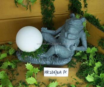 Polystone Gartenfrosch Figur Solarleuchten Buy Polyresin Abbildung