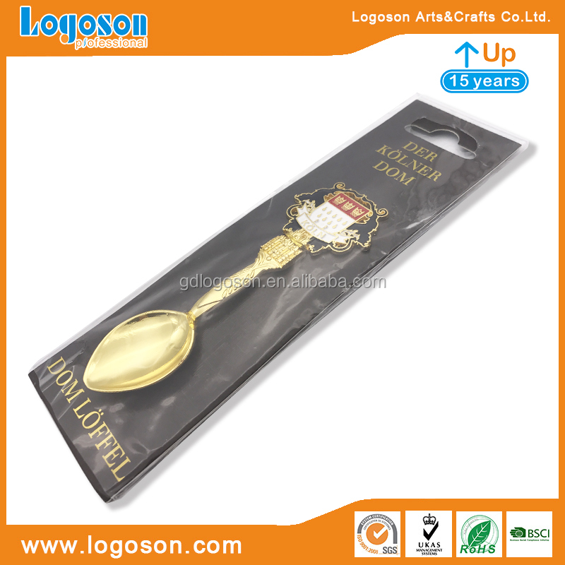 Wholesale Price Sri Lanka Animal Shape Gifts Spoons Golden Enamel Spoon Decorative Spoon