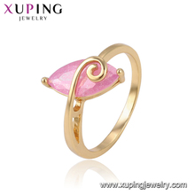 15272 Xuping simple shape single stone designs noble women finger ring jewelry