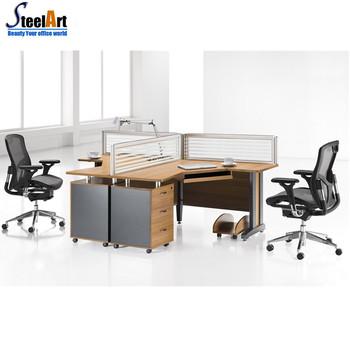 4 personnes bureau bureau double c t bureau bureau avec tiroirs s parateur de bureaux. Black Bedroom Furniture Sets. Home Design Ideas