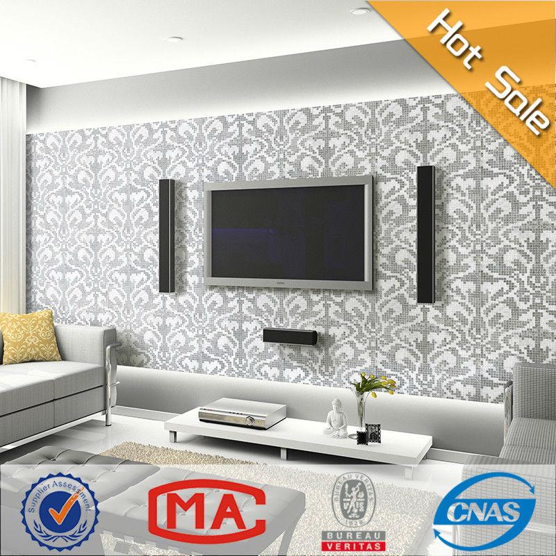 Vidrio de patr n de sala de estar decorativos italia for Azulejo para pared de sala