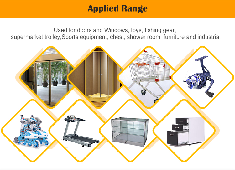 Window roller slider with wheels and steel frame