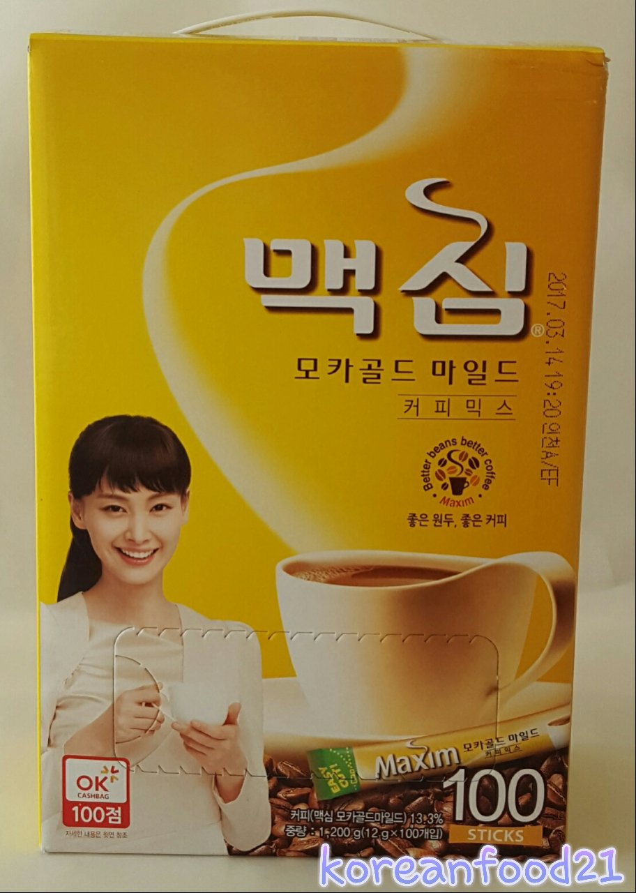 Maxim Mocha Coffee Mix Instant 100 Pcs Stick Instant Korean