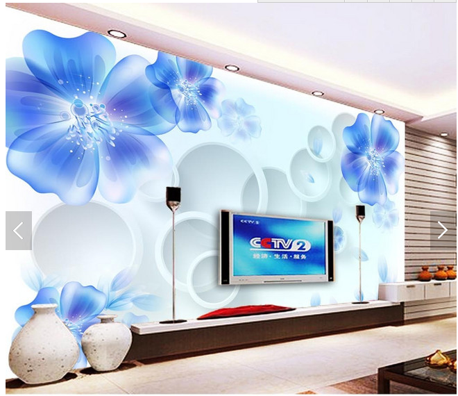 3d flower wallpaper for home decor 3d flower wallpaper for home decor suppliers and manufacturers at alibabacom - Flower Wallpaper For Home