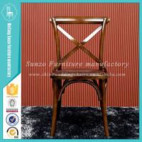 wooden X rattan chair relax chair