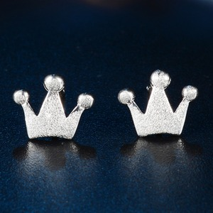925 sterling silver crown stud earrings fine jewelry cheap