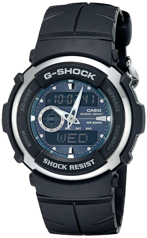 858ee2636940 Get Quotations · Casio Men s G-Shock G300-3AV Shock Resistant Black Resin  Sport Watch