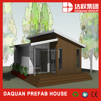 modular appartment villa with single slope roof wooden house
