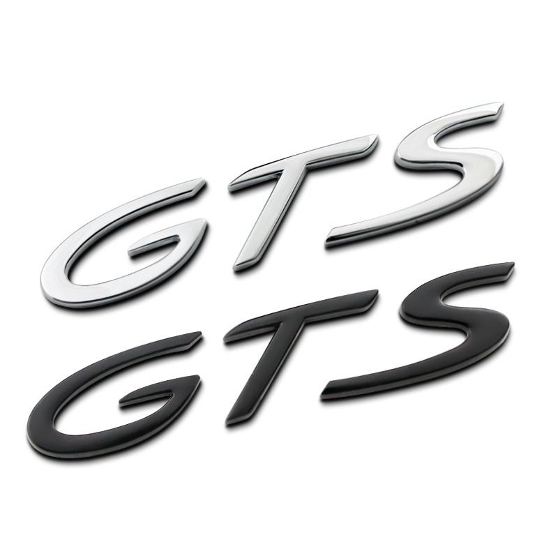 diy 3d full metal gts letters car styling refitting emblem tail badge sticker for porsche