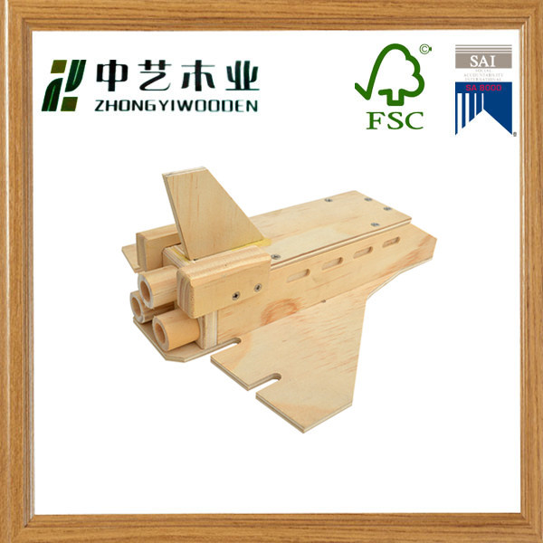 Personalized handmade solid pine 3D wood craft construction kit wooden toys plane models kit