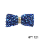 HY1121 Gold metal with glass bead bow shoe flower