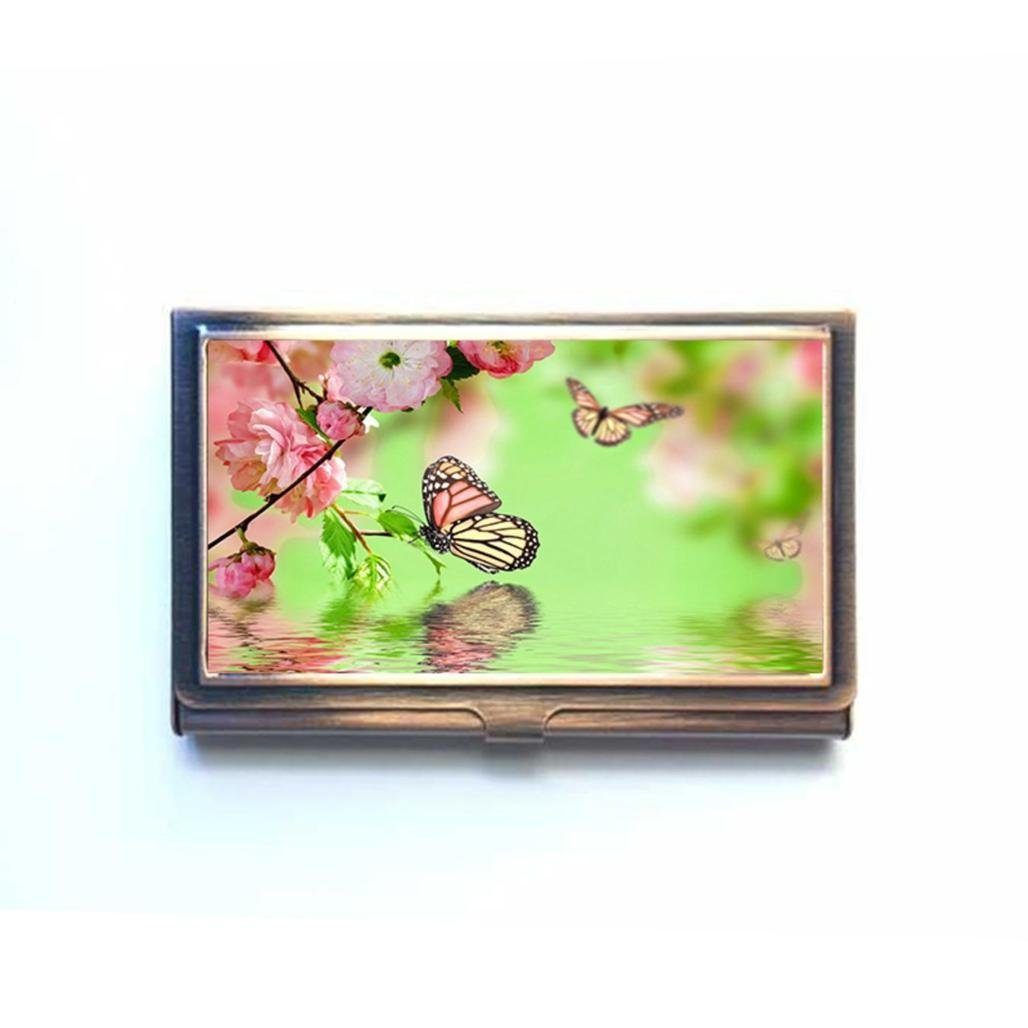 Monarch butterfly business card design template visiting for your get quotations background bokeh butterfly flowers custom business bank name card case holder bronze box pocket colourmoves