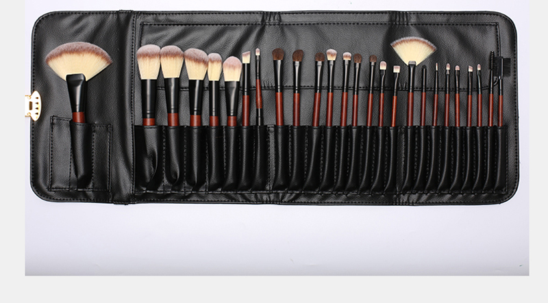 OEM Makeup Brushes Professional 26 PCS Wooden High Quality Makeup Tools Face Eye Make Up Brush Set with PU Case
