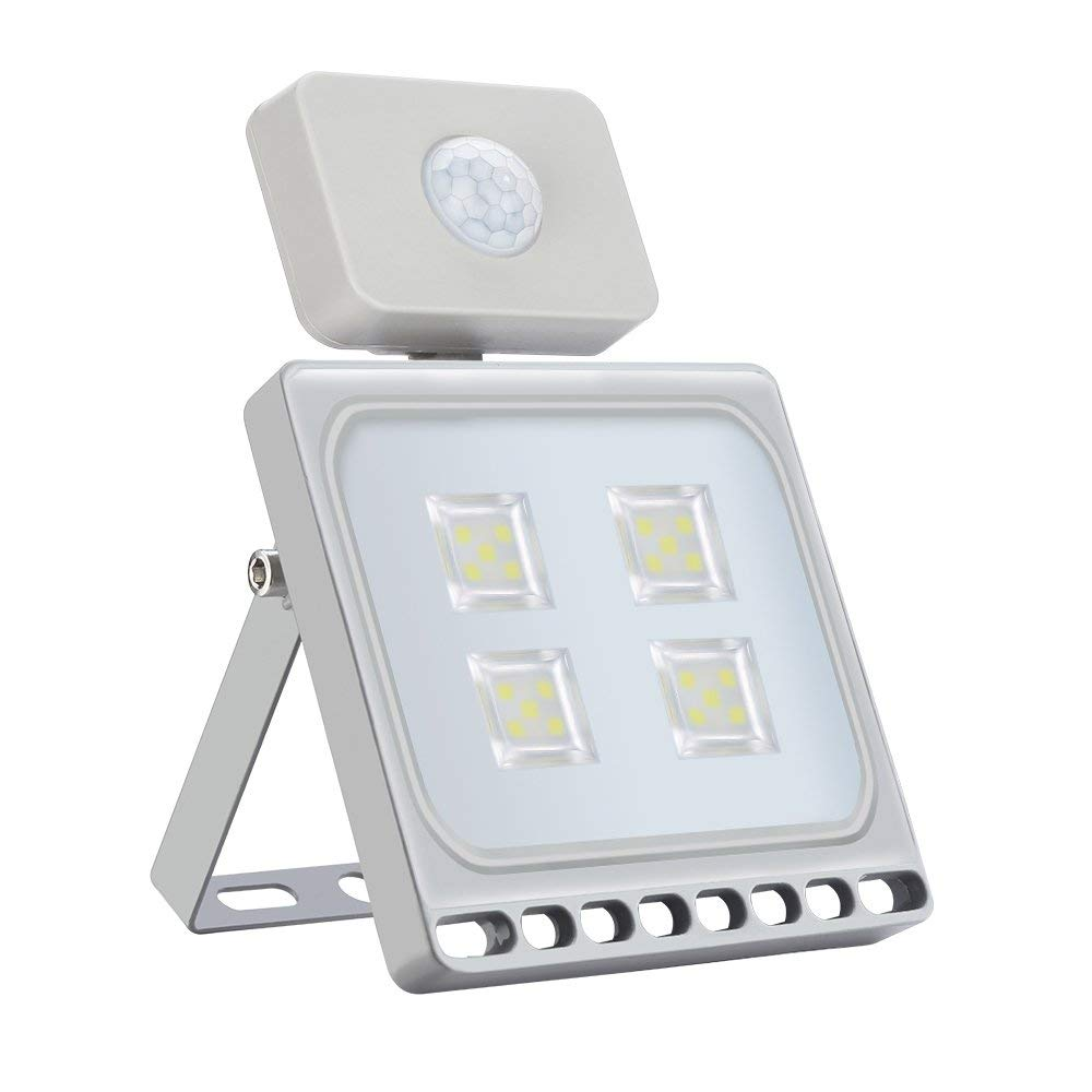 10W 20W 30W 50W 100W Motion Sensor Flood Lights, Super Bright Outdoor LED Flood Lights, Cold White/Warm White, Waterproof IP67, Security Lights and Work Light by Pueri