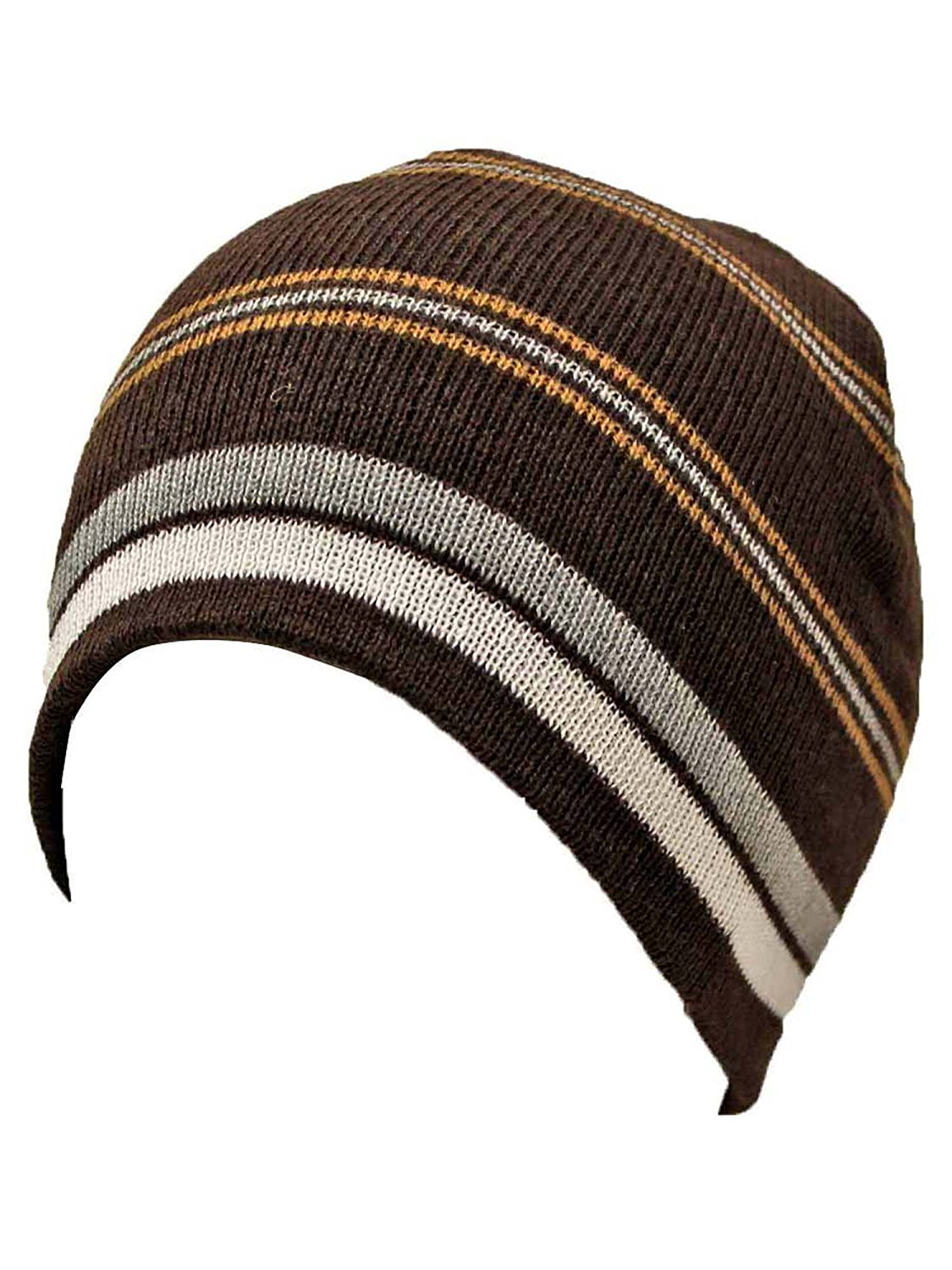 6ff104caaa78c Get Quotations · Luxury Divas Striped Tight Fitting Beanie Cap Hat