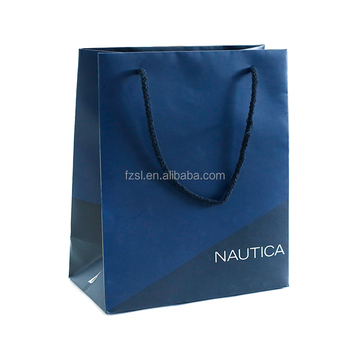 PSBSL1728 luxury custom made brand  paper shopping bag China factory