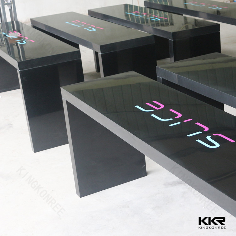 Acrylic Solid Surface Artificial Stone Bar Table With Chairs