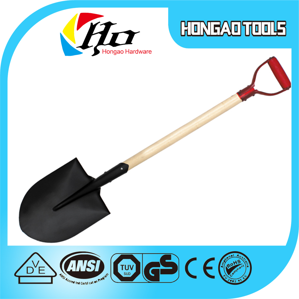 High quality heavy duty spade shovel/Shade with Wooden Handle