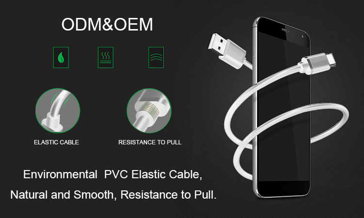 Wholesale High quality Nylon 3 in 1 Braided USB Charging Cable Micro USB Type-C Head Charger Android