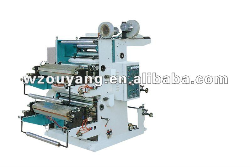 YT series two colour flexographic printing machine