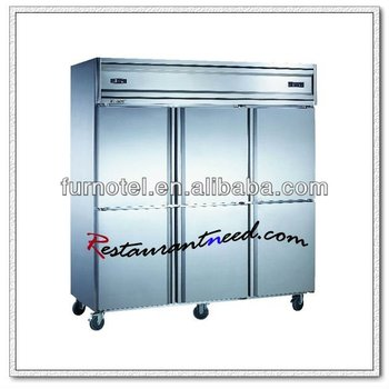 R221 6 Doors Double-Temperature Static Cooling/Fancooling Kitchen Freezer