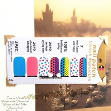 Colorful Dots Lovers Nail Arts Sticker 14 pcs set Waterproof Nail Decals Art Stickers Gel Polish