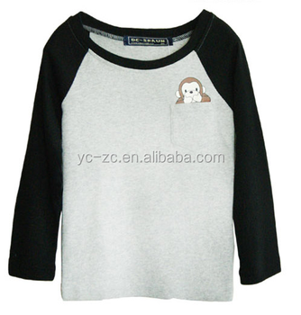 Hot sale kids children blank raglan t shirt wholesale for Kids t shirts in bulk