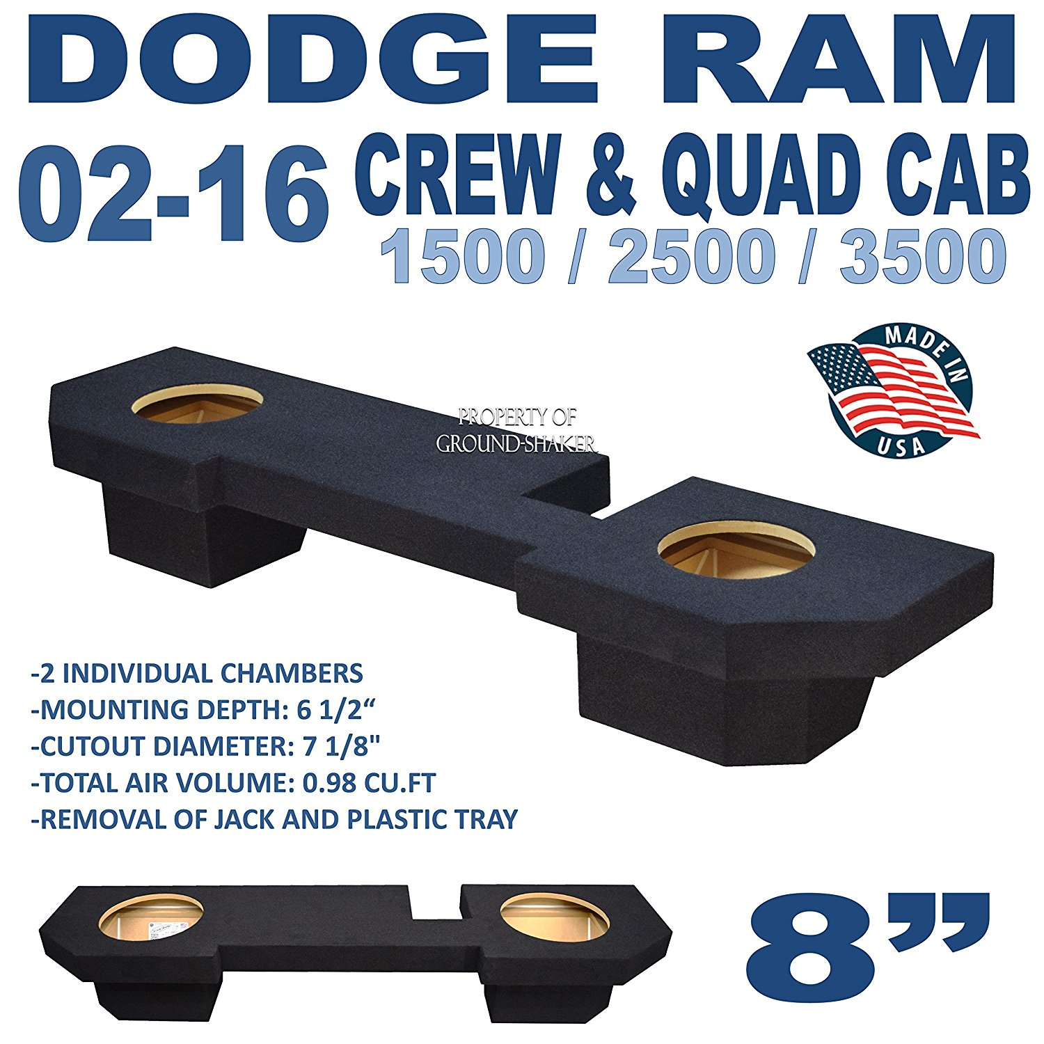 Cheap Dodge Ram 1500 Subwoofer Box Find Crew Cab Sub Get Quotations 2500 3500 Ext 2002 20016
