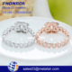 2017 new design fashion jewelry finger ring double C finger lovers wedding rings