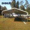 lightweight steel tube frames metal carport with rounded roof