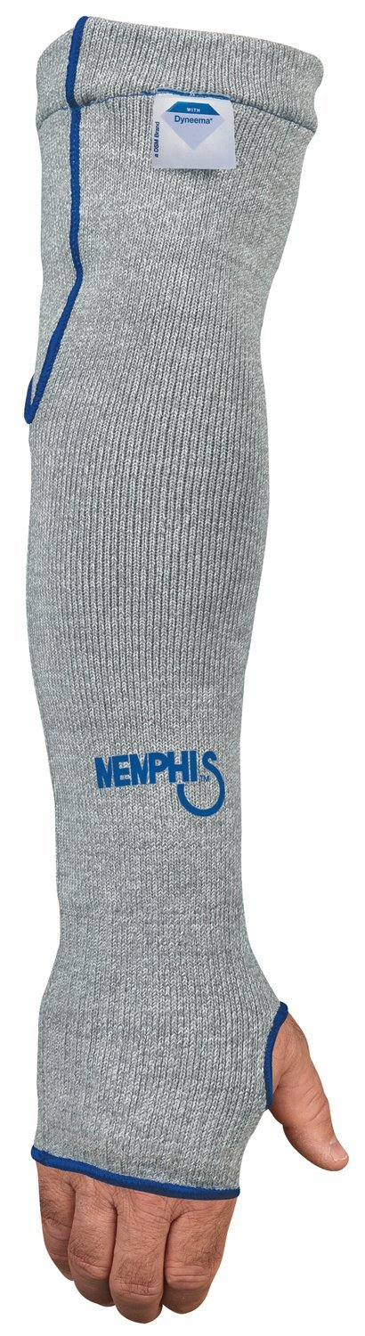 MCR Safety 9318D7T Memphis 7 Gauge Dyneema Sleeve with Thumb-Slot, Gray, 18-Inch