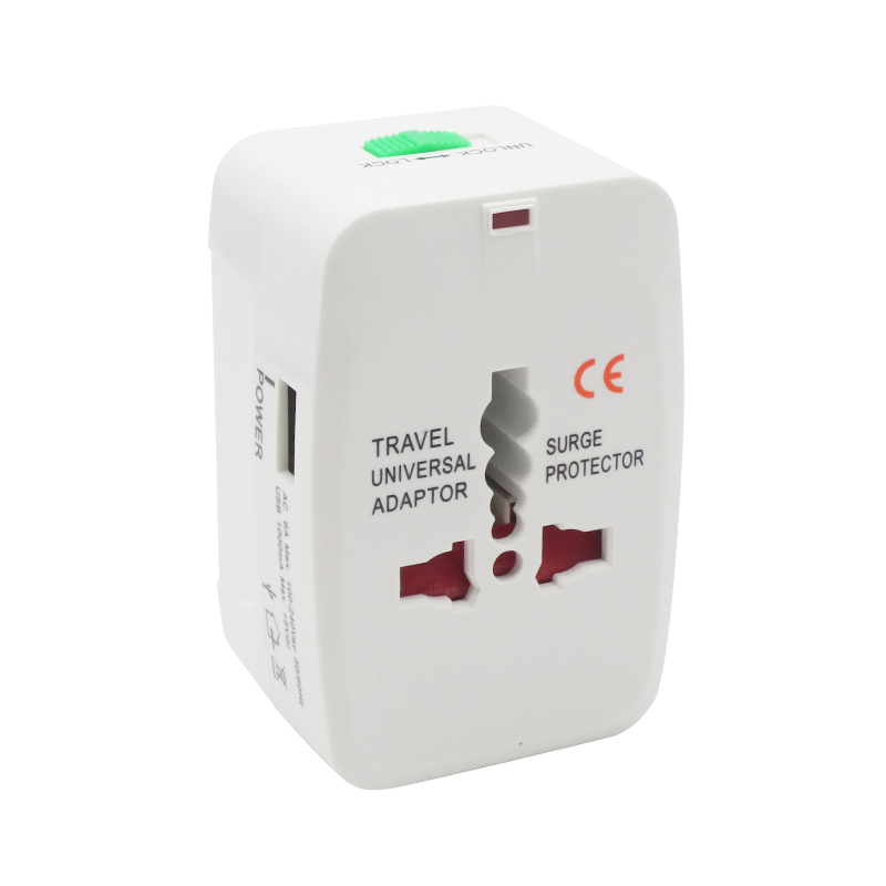 Free Shipping Universal adapter surge protector to Travel plug Power Charger Converter Adapter USB Port