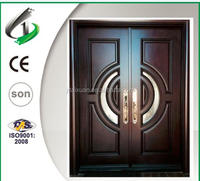 Solid mahogany double door design front door entry door