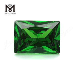 Synthetic baguette cut 10x14mm green cubic zirconia loose cz stone
