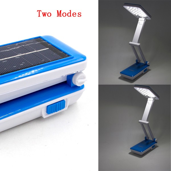 2W 24-LED White Light LED Solar Light Rechargeable Fold Eyeshield Reading Table Desk Lamp