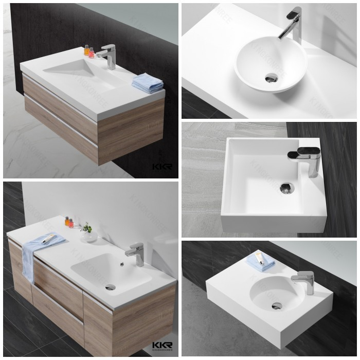Italian Design Bathroom Polyester Resin Wash Basin, Sinks