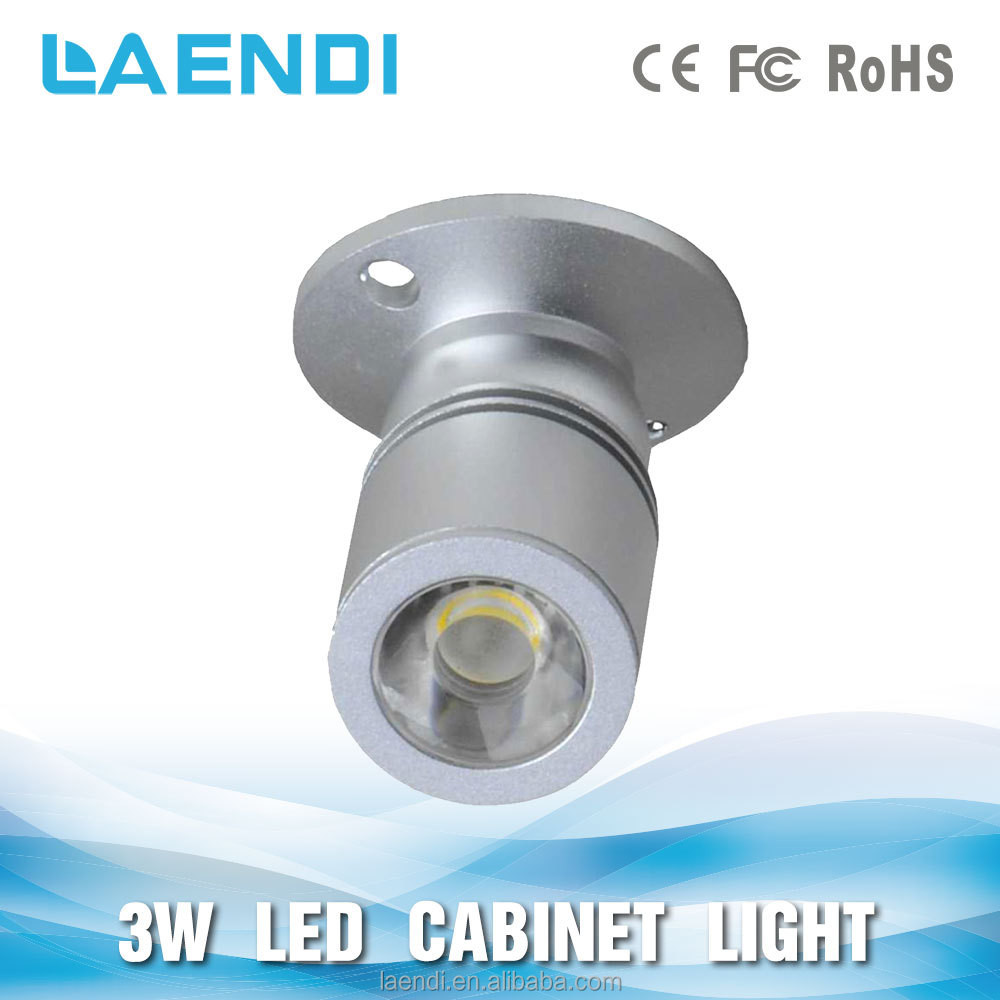 50/60Hz ac 100-240 v diametro 20mm 3 w cabinet showcase battery operated mini led spotlight
