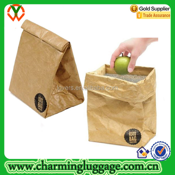 Reusable Brown Kraft Paper Lunch Bags