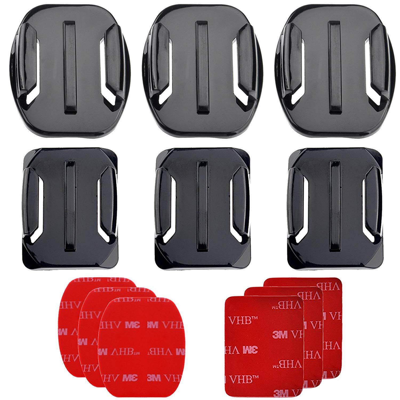 PRO-mounts PMGP100 Flat & Curved Mounts for GoPro HERO3, HERO3+, HERO4
