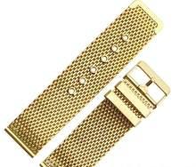 Пояс из нержавеющей стали, сетчатый ремешок для часов, аксессуары для Cartier dw tissot Omega Longines, мужские и женские ремешки для часов(China)