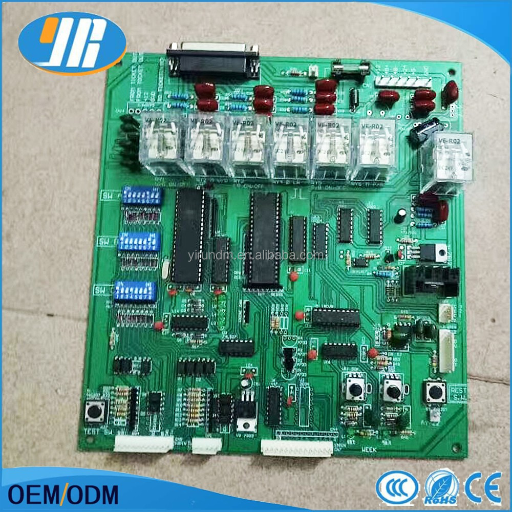 Taiwan Mother Board Crane Game Pcb Slot With Wire Harness Circuit