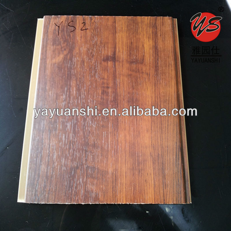wood laminated hot design plastic ceiling panel decoration