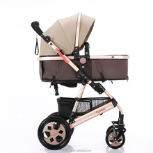 Hubei Aluminum Alloy type and polyester material folding baby trolley stroller